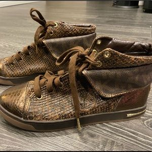 Michael Kors Snakeprint Hightop Sneakers
